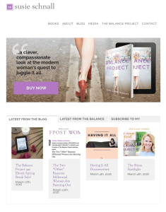 Susie Schnall Website Redesign with BookSparks