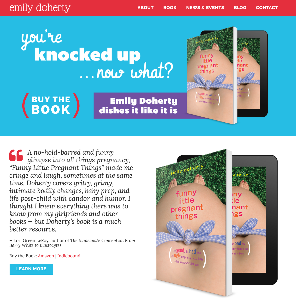 Emily Doherty Author Website by BookSparks